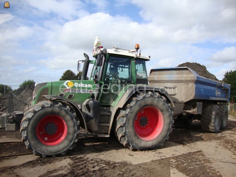 Tractor + kipper Fendt 718 + VGM