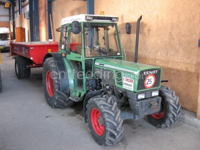 Tractor + kipper Fendt 280pa + Beco 460