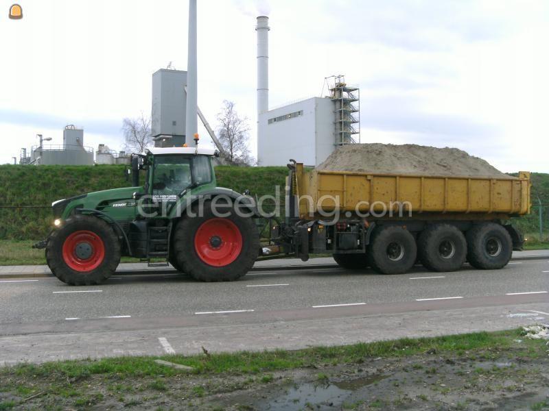 Tractor + carrier Fendt 936 met Veenhuis 3 asser