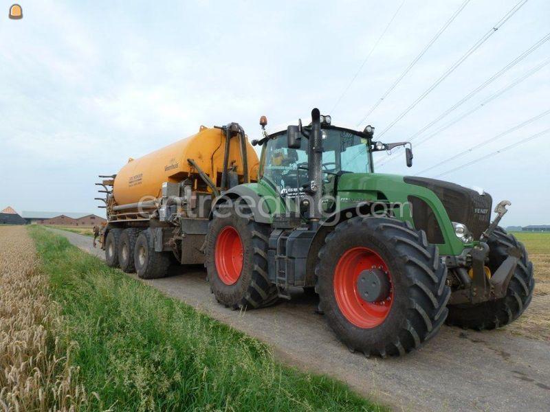 Tractor + bemester New Holland + Veenhuis