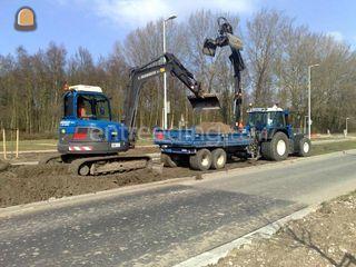 Tractor + knijperkar 5m3 Omgeving De IJsselsteden