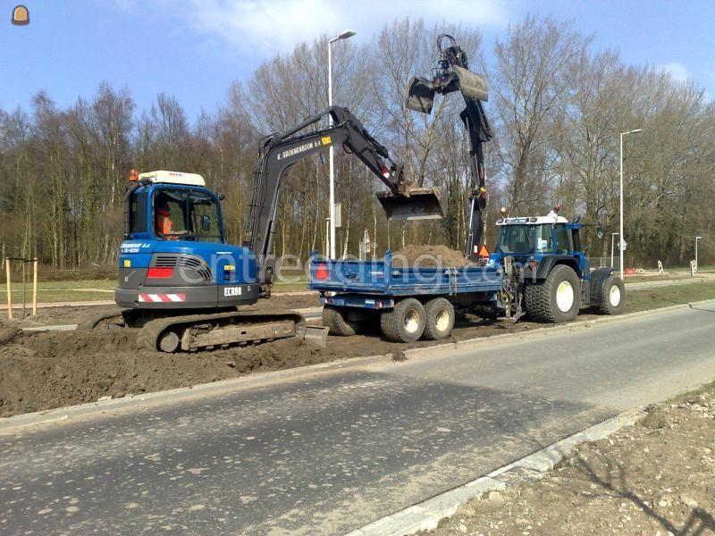 Tractor + kraankipper vgm 5m3