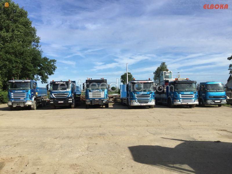 vrachtwagen + container
