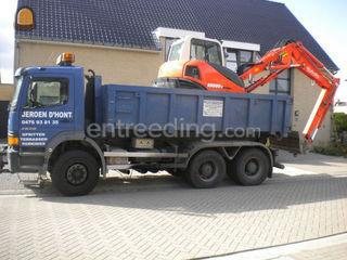 vrachtwagen met container... Omgeving Dendermonde, Berlare, Uitbergen,