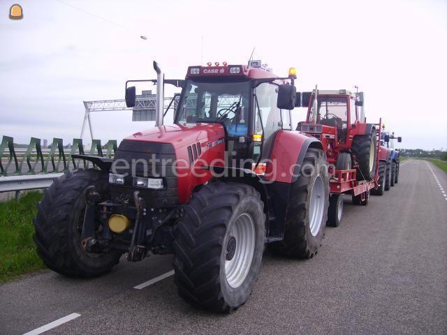Tractor + plateauwagen trekker+dieplader