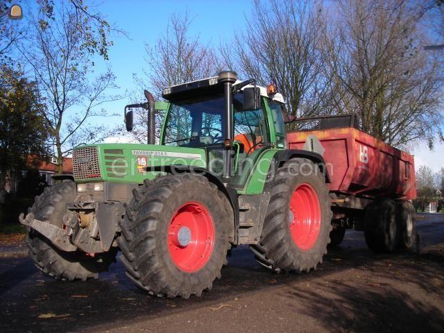 Tractor + kipper fendt tractor HM kipper