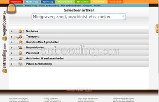 webapplicatie wegenbouw.b... Omgeving Brussel