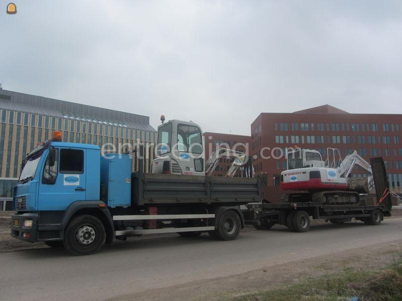 Dieplader / oprijwagen MAN + SEMIDIEPLADER