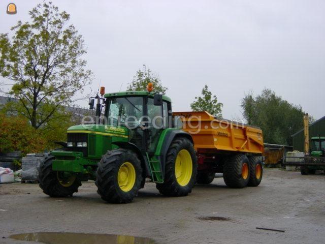 Tractor + kipper John Deere 6510