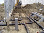 leidingen graven tbv tuinbouw projekt