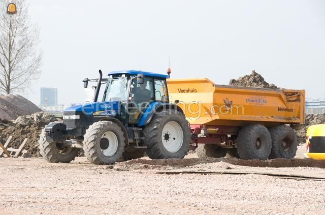 Tractor + kipper Veenhuis 13m3
