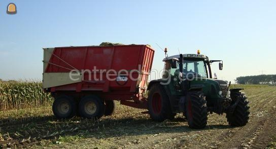 Tractor + silagewagen Fendt + Beco silageopbouw