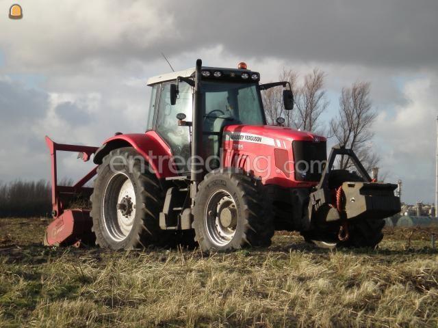 Tractor + bosfrees AHWI Bosklepelmaaier