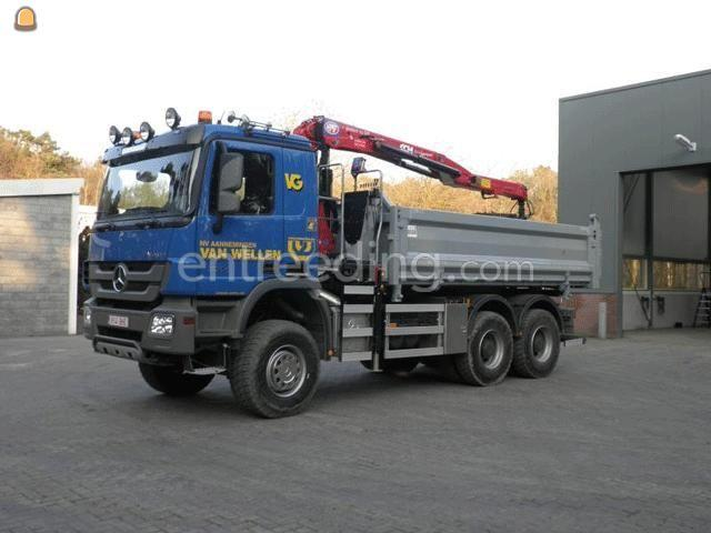 Kippervrachtauto MB 3344 knijperwagen