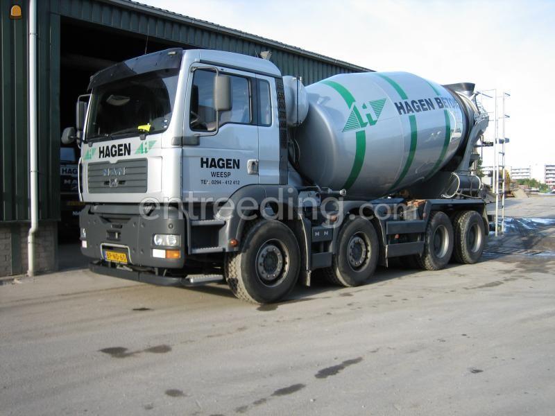 Kippervrachtauto 10m3 betonmixer 37 ton man