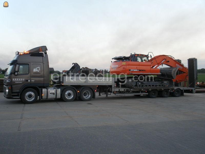 Dieplader / oprijwagen Volvo 480 + dieplader