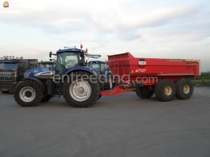 Tractor + kipper new holland + gt 30 dumper