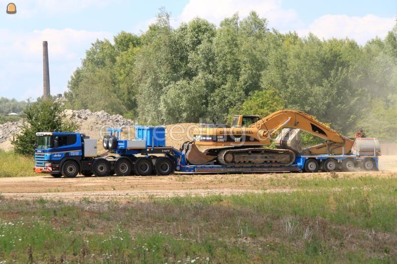 Dieplader / oprijwagen Scania P124  10x4