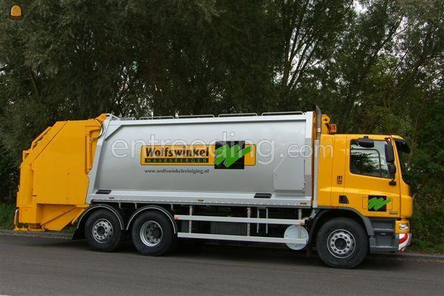 Vuilniswagen DAF 75 CF bedrijfsafval wagen
