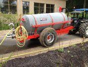 Tractor + waterwagen Tractor + watertank 5m3