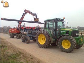 JD 6430 en buizenwagen Omgeving Maasdriel