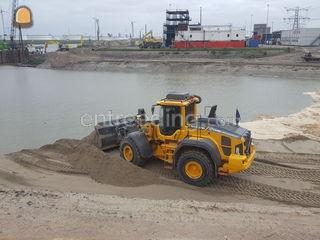 Volvo L110H Trimble GPS Omgeving De Drechtsteden
