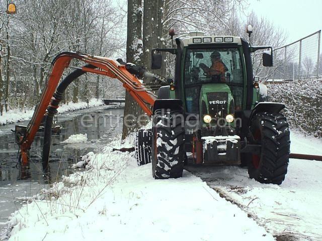 Tractor + pompen Fendt 716 met BMS Baggerpomp