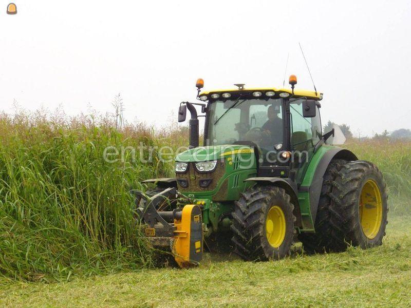 Tractor + voor en achter klepelmaaier