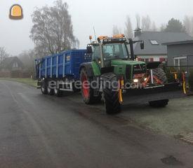 Fendt met kipperaanhanger Omgeving Gent