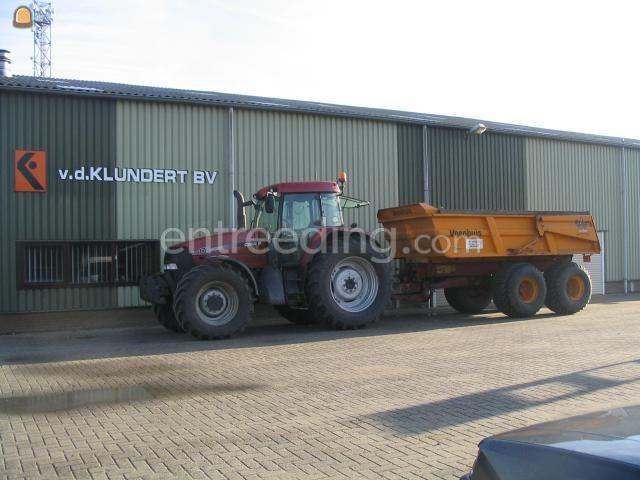 Tractor + kipper Case MX170 + veenhuis