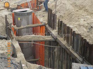 Beschoeiing van bouwputte... Omgeving Roeselare