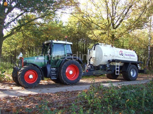 Tractor + waterwagen Fendt 712 + waterwagen