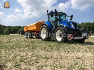 New Holland T5.100 + dump... Omgeving Kamerik