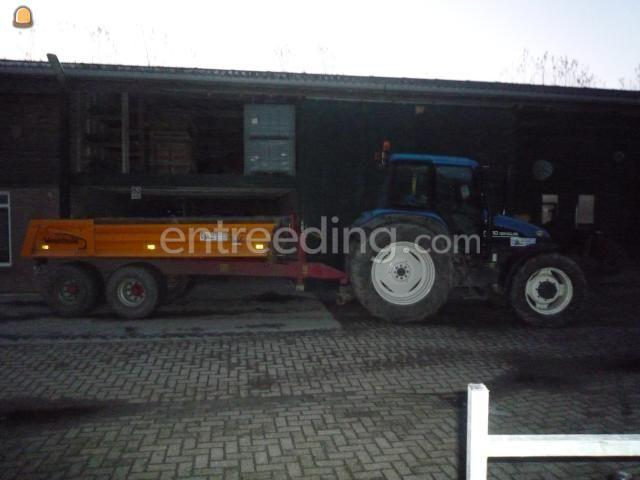 Tractor + kipper New Holland TS 110 + Veenhuis 6m3