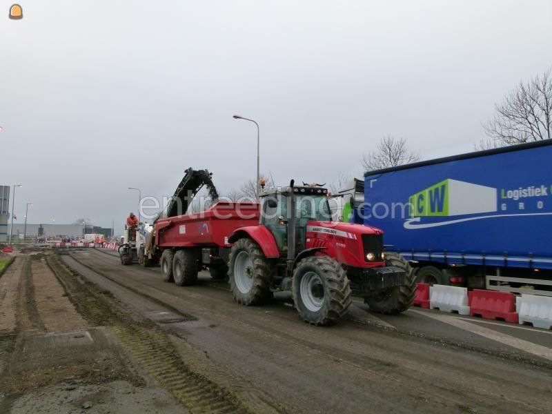 Tractor + kipper MF-6485 met VGM keeper