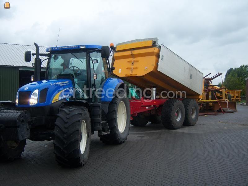 Tractor + kipper New Holland T6070 + dumper