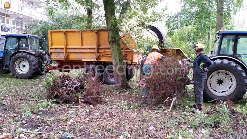compact tractor met TS snipperaar