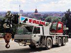 Met 5,3 ton ballast en de 15 m hulpgiek weegt Faun's ATF60-3 toch 36 ton