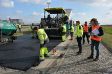 aanleg groen asfalt door Aswebo
