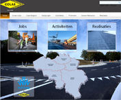 de website van Colas Belgium