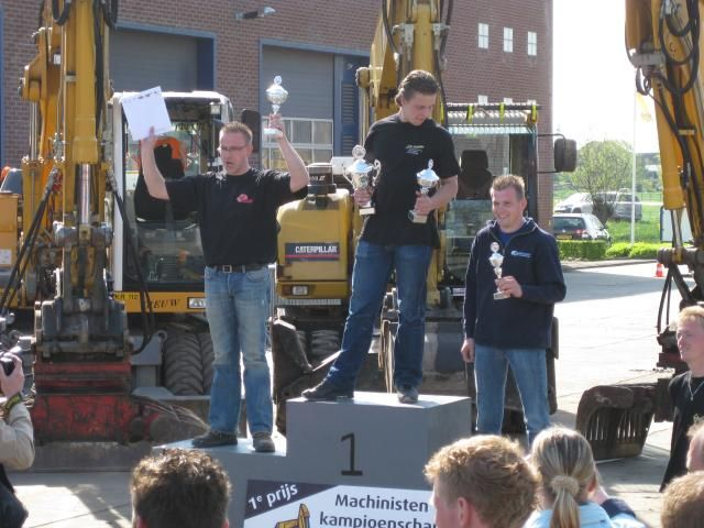 De winnaars op rij: Lean de Jong (2), Julien Smit (1) en Wim korevaar Jr. (3).