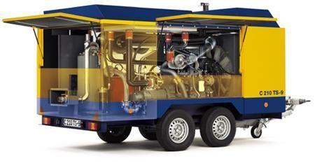 CompAir C210 TS-9  mobiele compressor