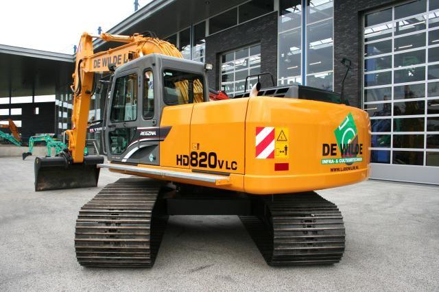 Kato HD820-V LC rupsgraafmachine voor De Wilde uit Vijfhuizen
