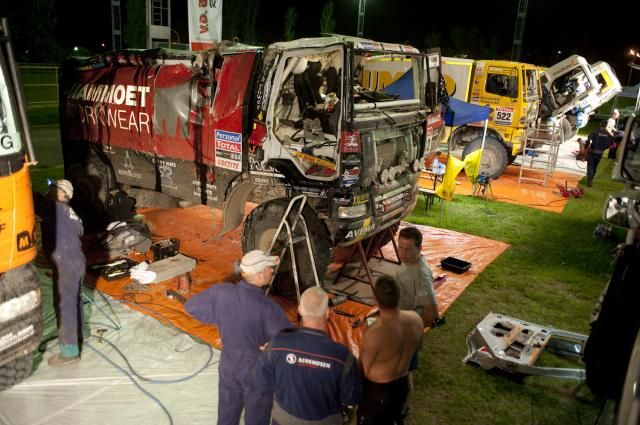 GINAF na crash in Le Dakar 2010