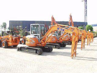 De meeste Fiat-Kobelco machines kunnen in Tiel worden bekenen.