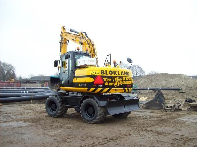 JCB S145W mobiele graafmachine voor Blokland uit Ter Aar