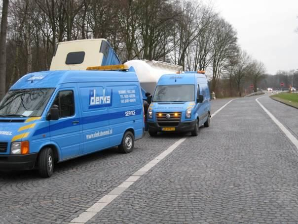 De vermiste Volkswagen LT35 van Transportbedrijf P.A.M. Derks B.V. te Bemmel