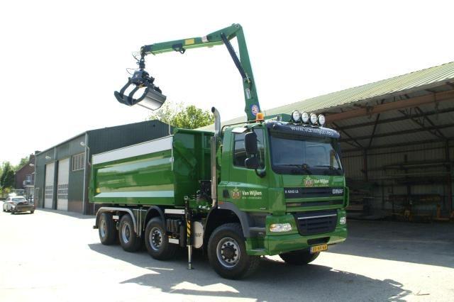 Ginaf X 4343 LS vrachtauto voor Aannemersbedrijf van Wijlen B.V. uit Sprang-Capelle
