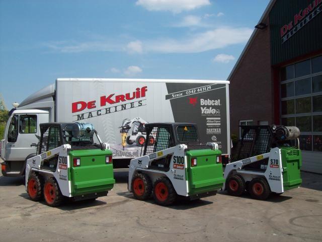 Bobcat S 70 schranklader en Bobcat S 100 voor Beelen Sloopwerken uit Harderwijk