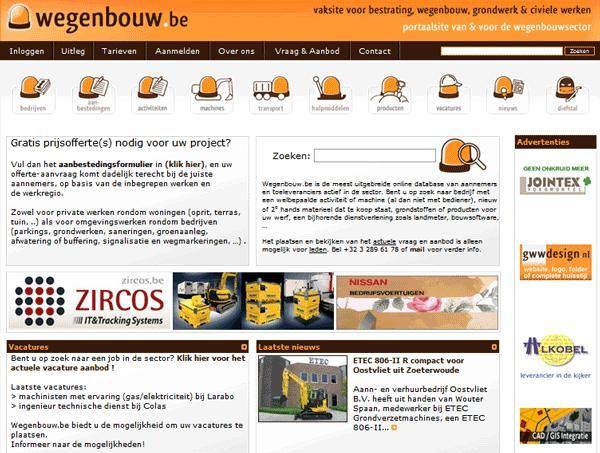 De vernieuwde wegenbouw.be website